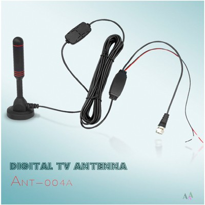 Indoor Portable Digital TV Antenna, 30 dB High Gain Indoor TV Antenna-Antenna Mast for DTT / DTMB, DVB-T, ATSC, DMB-T USB Receiver, Portable with Stable Magnetic Base 2