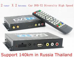 2X2 Two tuner antenna car DVB-T2 Diversity High Speed Russia Thailand 13