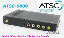 Digital TV Receiver ATSC Tuner Box in Car For USA Mexico Canada 5