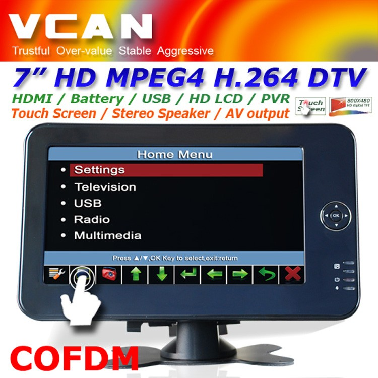 10.4 inch new panel VGA TFT touchscreen laptop monitor with speaker amplifier TM-1040 13