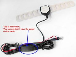 Digital TV antenna DVB-T ISDB-T ATSC high speed film antenna with booster tv signal enlarger active amplifier 7