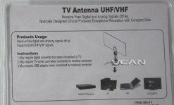 Digital TV DVB-T2 UHF/VHF Flat antenna for home use 10