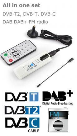 USB DVB-T2 PC DTV receiver DVB-T2 DVB-T DVB-C SDR FM DAB TV stick DVB-T2U, change your PC to DTV 10