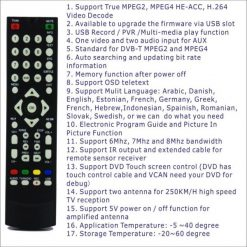 DVB-T2100HD Car DVB-T MPEG4 H.264 2 tuner Digital TV receiver 2 tuner 2 antenna 14