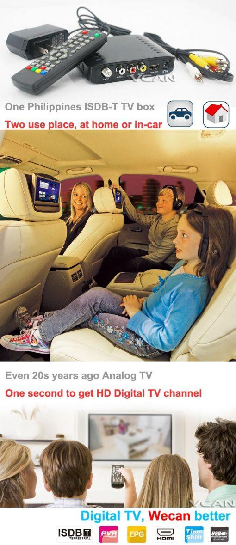 Car ISDB-T Philippines Digital TV Receiver 8