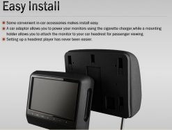 9 inch Headrest DVD touch screen USB SD Game MP5 player, IR FM 2 Speaker, 8-32 bits Game 16