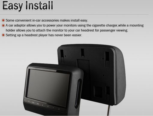 9 inch Headrest DVD touch screen USB SD Game MP5 player, IR FM 2 Speaker, 8-32 bits Game 8