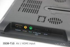 2 tuner 2 antenna isdb-t digital tv receiver 10.1 inch full segment digital TV receiver for Japan mini b-cas card reader high speed moving 18