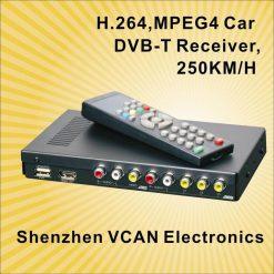 Car DVB-T Receiver MPEG4 H.264 2 tuner 2 diversity antenna Booster Recorder DVBT 19