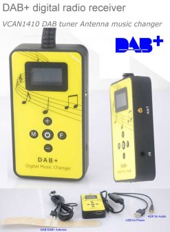 DAB digital radio receiver dab plus tuner Antenna USB power AUX input music changer 4
