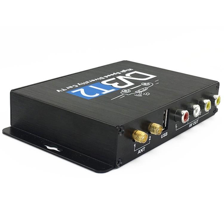 Car DVB-T2 DVB-T Multi PLP Digital TV Receiver 2 Antenna Diversity Dual Aerial H264 MPEG4 HD High Speed FTA STB 13