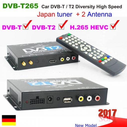 Germany DVB-T2 H265 HEVC 2017 New Model DVB-T265 automobile digital car dvb-t2 tv receiver 1