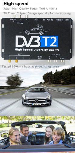 Germany DVB-T2 H265 HEVC 2017 New Model DVB-T265 automobile digital car dvb-t2 tv receiver 17