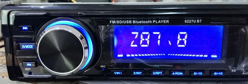 Fixed Panel Car MP3 USB SD FM Bluetooth MP3-6227 30