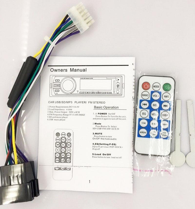 Fixed Panel Car MP3 USB SD FM Bluetooth MP3-6227 35
