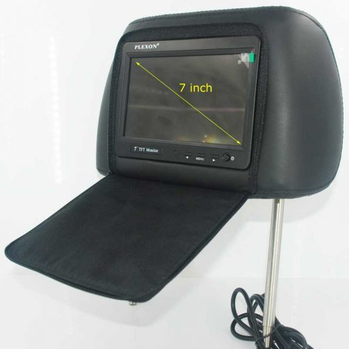 7 inch headrest monitor with pillow bag LED backlight cover zipper 1