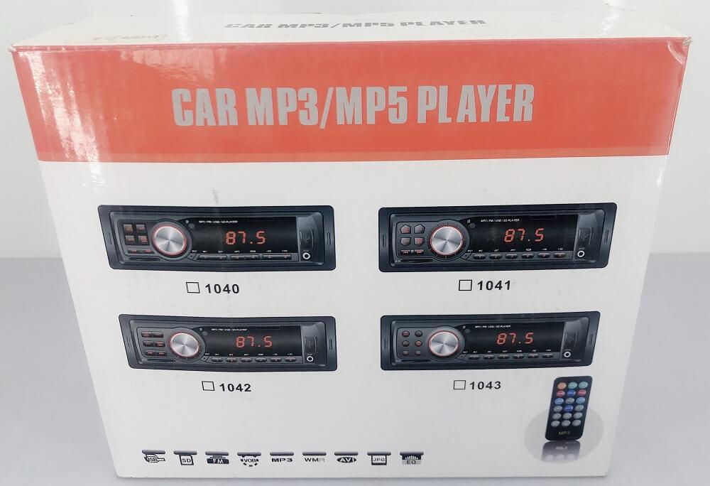 In dash One din Car USB SD MP3 player FM radio AUX audio input 5