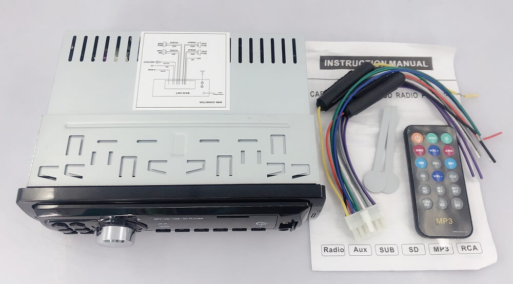 In dash One din Car USB SD MP3 player FM radio AUX audio input 7