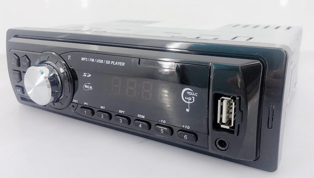 In dash One din Car USB SD MP3 player FM radio AUX audio input 10