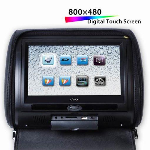 "9"" Digital Touch Screen Headrest DVD Player remote controller 32 bit games VCAN1360 1"