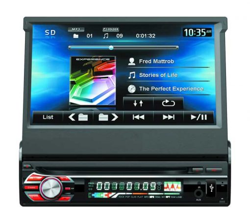 7inch 1 din car DVD player with digital touchscreen Vcan1366 1