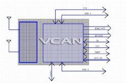 DVB-T2 TV module DVB-T H.264 MPEG4 2 tuner diversity 2