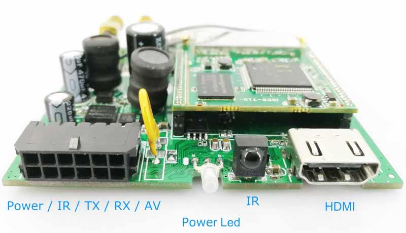 ISDB-T Module bottom board connector