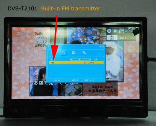 diversity dvb-t cofdm 10.1 inch digital tv monitor dvb-t2 receiver hdmi in out 6M 7M 8M bandwidth 170M to 930M frequency DVB-T2101HD 1