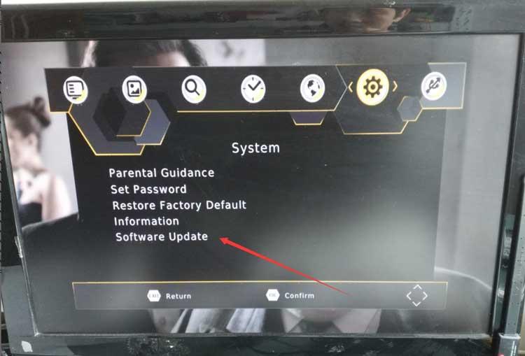 DVB-T2 upgrade software firmware