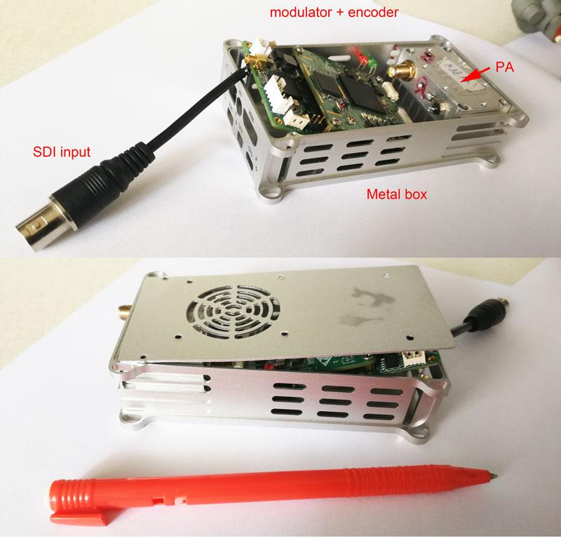 COFDM Modulator SDI in H264 Decoder 1w PA support 1080p camera 1
