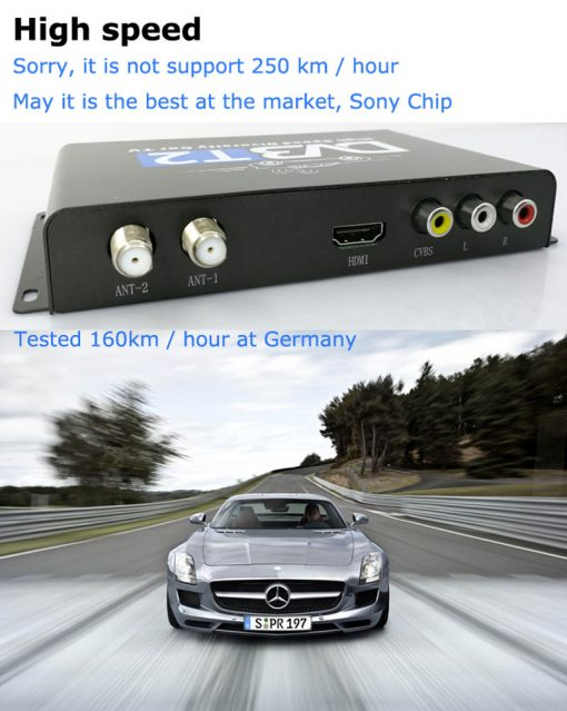 Car DVB-T2 H265 HEVC Codec Digital TV Receiver Auto Mobile Germany Standard 2 antenna H264 HD for all dvb country 8