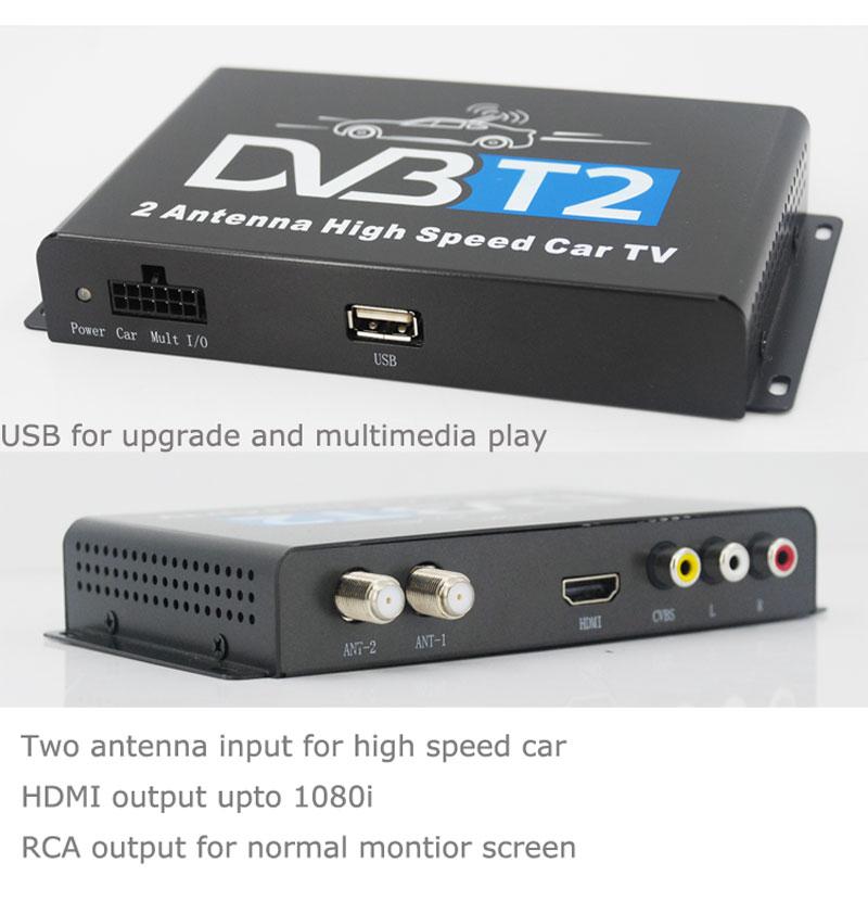 Car DVB-T2 H265 HEVC Codec Digital TV Receiver Auto Mobile Germany Standard 2 antenna H264 HD for all dvb country 17