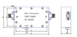Digital Down Converter COFDM Transfer frequency 2.4G to 600Mhz low BDC 4