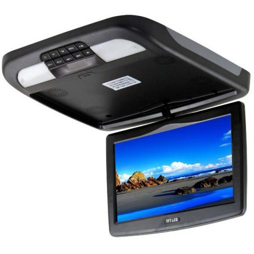 10.2 inch roof mount monitor usb sd dvd player ceiling flip down screen tm-1020 1