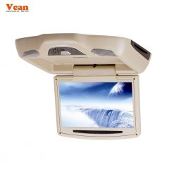 10.2 inch roof mount monitor usb sd dvd player ceiling flip down screen tm-1020 10
