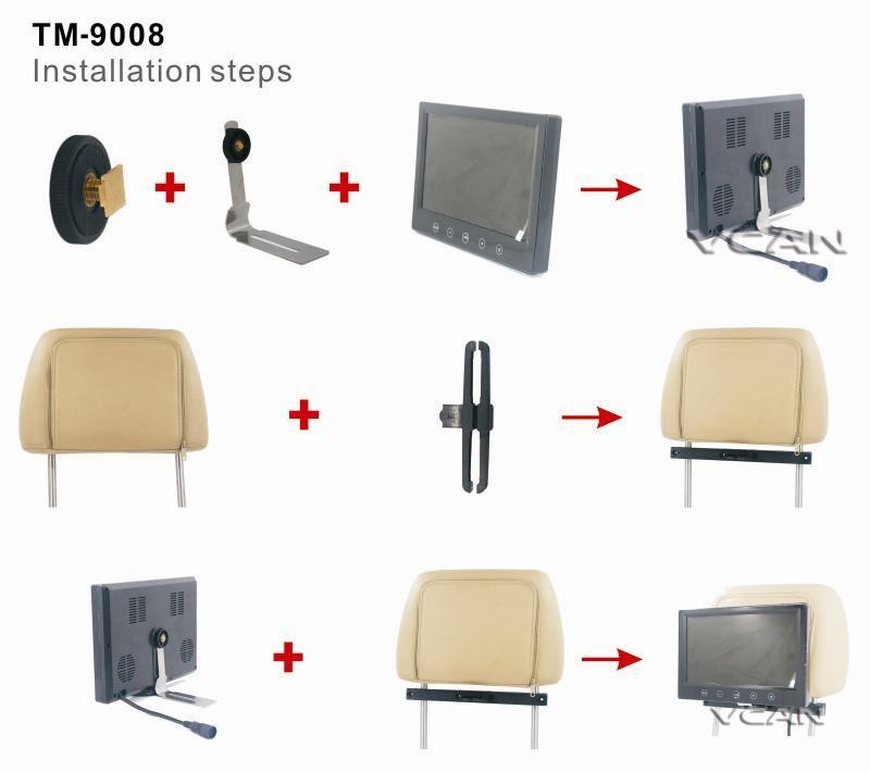 BK-638V Universal Headrest mounting Bracket 9