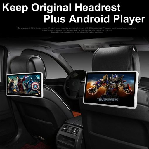 Android Headrest Player 11.6 inch IPS HD Monitor With WiFi Speaker Bluetooth FM transmitter Seat Touch Screen 12V 2PCS Pair 1