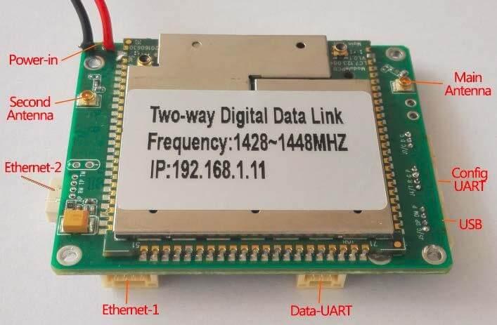 Two-way wireless transmission digital data link module Vcan1681 3
