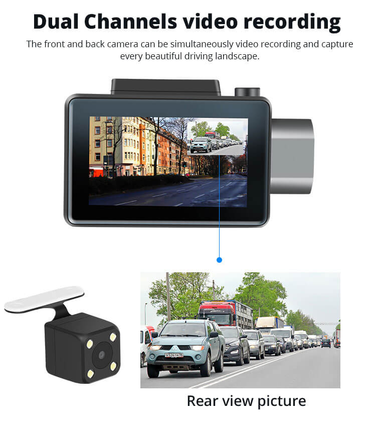 Android Dash Cam Car DVR Camera GPS Logger 3G WiFi Dual Lens WDR Video Recorder 5.1 Rearview camera Vcan1608 5