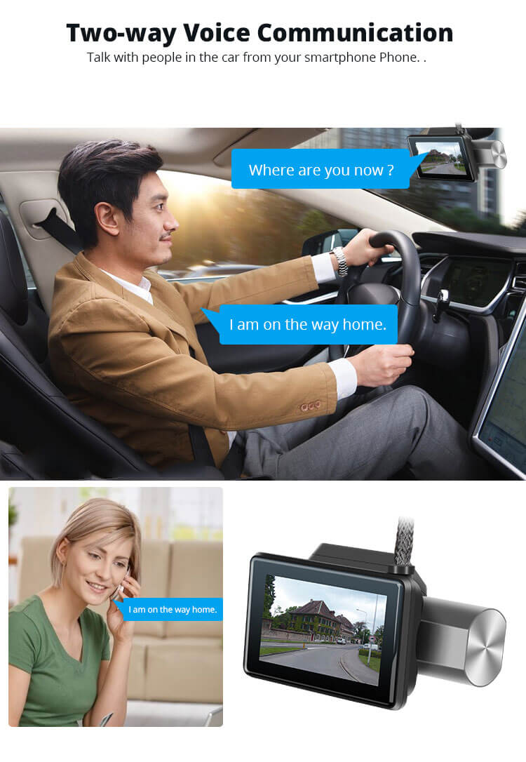 Android Dash Cam Car DVR Camera GPS Logger 3G WiFi Dual Lens WDR Video Recorder 5.1 Rearview camera Vcan1608 11