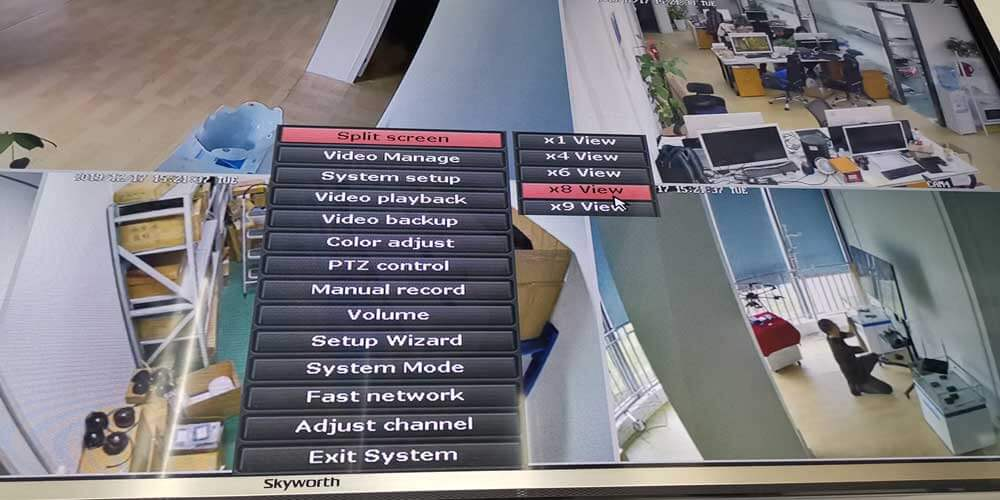wireless transmitter-receiver for four ip camera to quad monitor 2