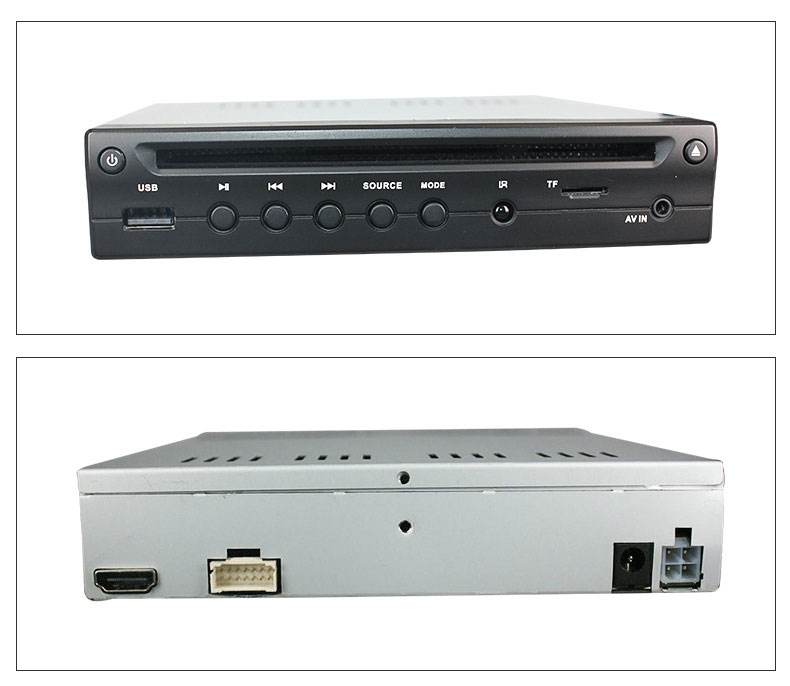 Half Din Car DVD Player HDMI output TF USB player 5