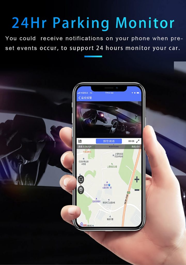 24hour to monitor your parking car at cell phone