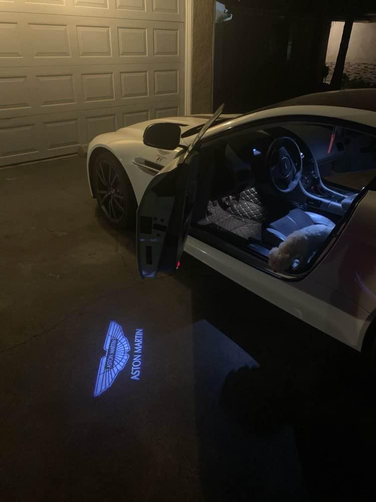 Courtesy lamp logo light door for Aston Martin DB9 DB11 DBS V8 V12 Vantage modification 7