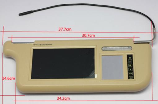 7 inch Sun Visor monitor 9 inch right left side black beige grey 3