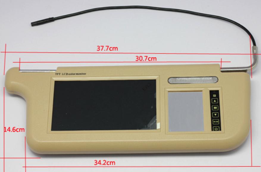 7 inch Sun Visor monitor 9 inch right left side black beige grey 16