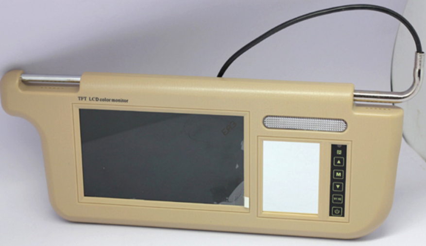 7 inch Sun Visor monitor 9 inch right left side black beige grey 15
