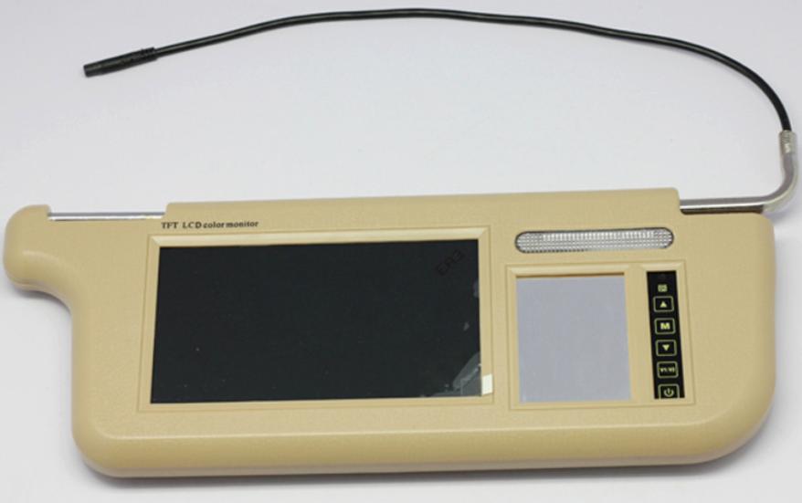7 inch Sun Visor monitor 9 inch right left side black beige grey 13