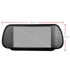 7 Inch Car Mirror Monitor Touch Button Auto Vehicle Parking Rear View Reverse HD Two inputs, install at original mirror RVM-700 7