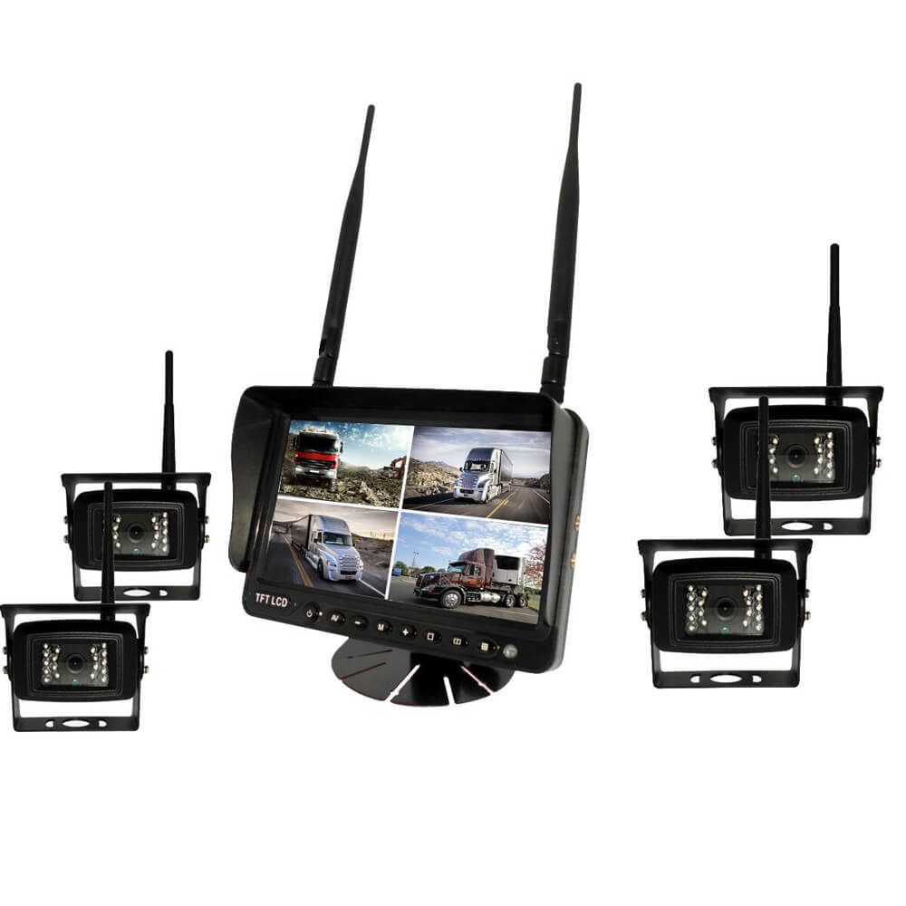 7 inch Wireless DVR quad monitor camera for Truck vehicle with AHD 1280 Night Vision HD Wifi Camera SD card Vcan1667 15